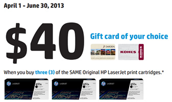 $40 gift card from HP